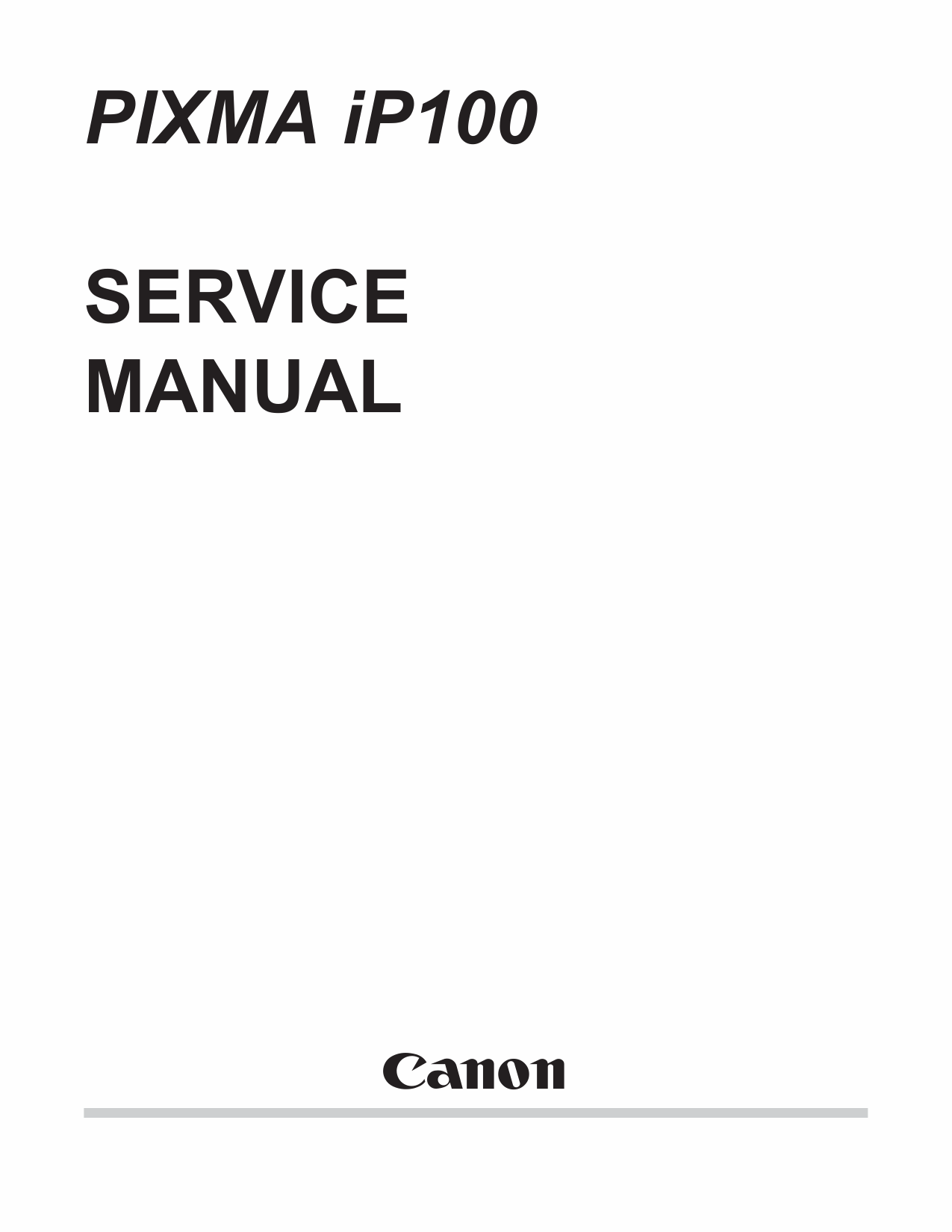 Amazon. Com: canon pixma ip100 printer parts catalog and service.